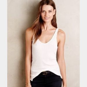 Anthro Lacausa Ribbed Tank in Gray